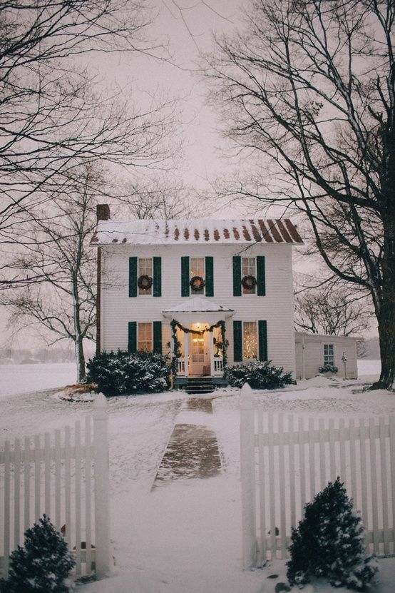 This house is what dreams are made of! It certainly gets us in the Christmas spirit...We do love a white Christmas. There's something so magical about this image! Repin if you agree...
