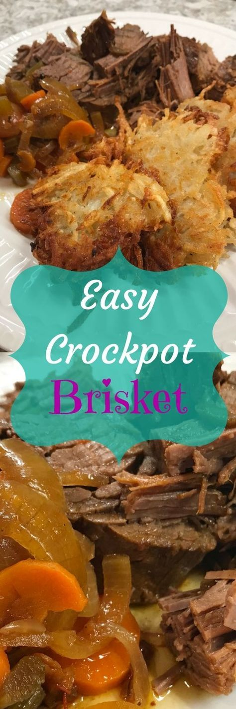 Easy Crockpot Brisket   Hanukkah Chanukah Meal
