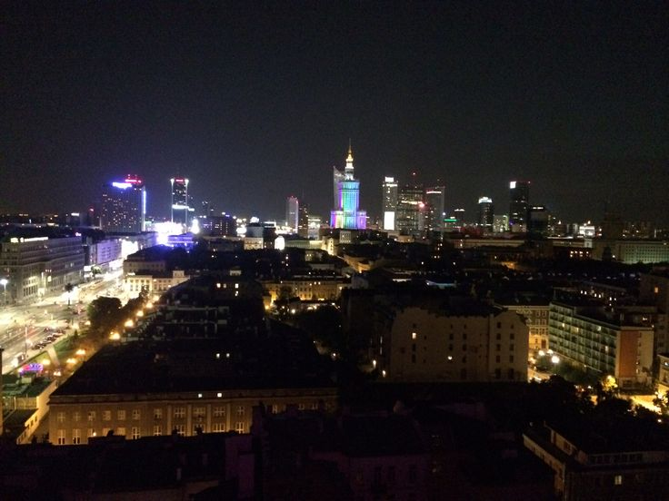 Warsaw by night. Love it.