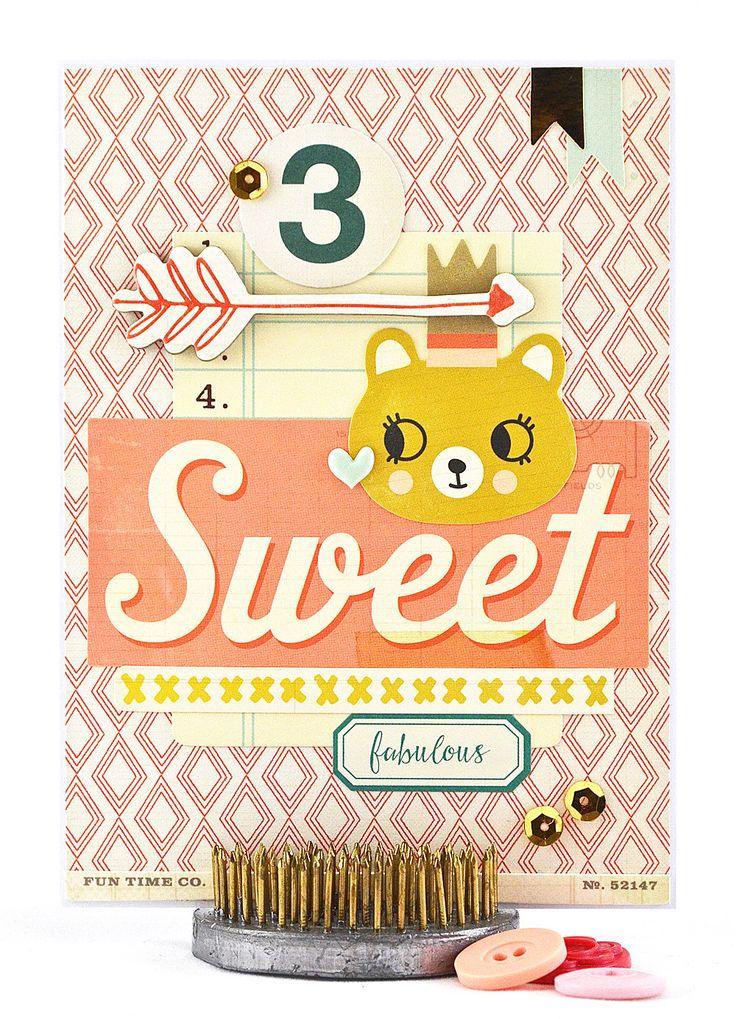 Handmade Birthday Card - Toddler Girl Birthday Card - Third Birthday Card - 3rd Birthday Girl Card - Personalized Birthday Card - Number 3 - pinned by pin4etsy.com
