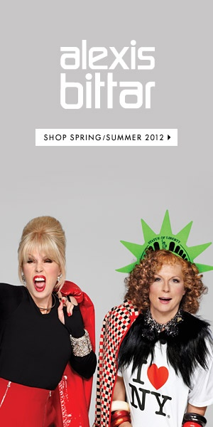 Patsy and Eddie for Alexis Bittar. So much YES.