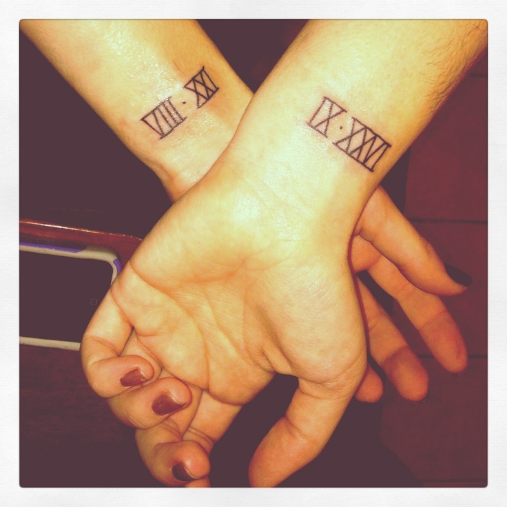 25 best ideas about cute sister tattoos on pinterest for Birthday date tattoos