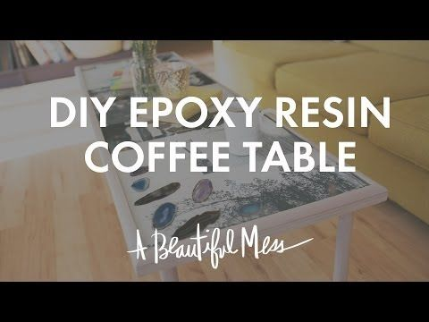 "DIY epoxy resin coffee table. Lots of ""how to"" photos and a video tutorial for those who like to watch."