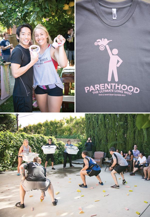 {Mint & Pink} Owl Inspired Baby Shower Fitness workout game  Crossfit activities - Robert would have more fun if we made it crossfit themed