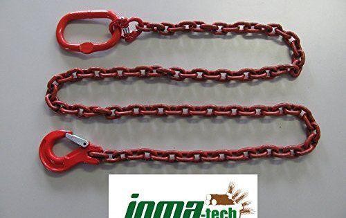 4m Chaîne de foresterie rond 10mm avec Ovale Aufhaengeglied et Aide des crochets 10mm avec Trap: 4 m haute qualité Chaîne spéciale avec…