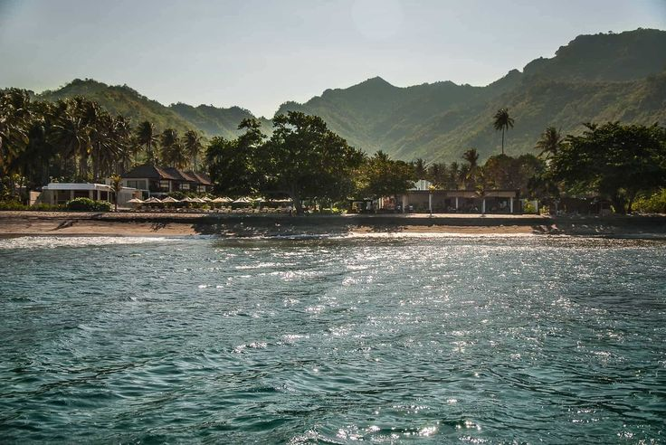 Lombok Hotel Photography - Living Asia - view to the hotel from the ocean