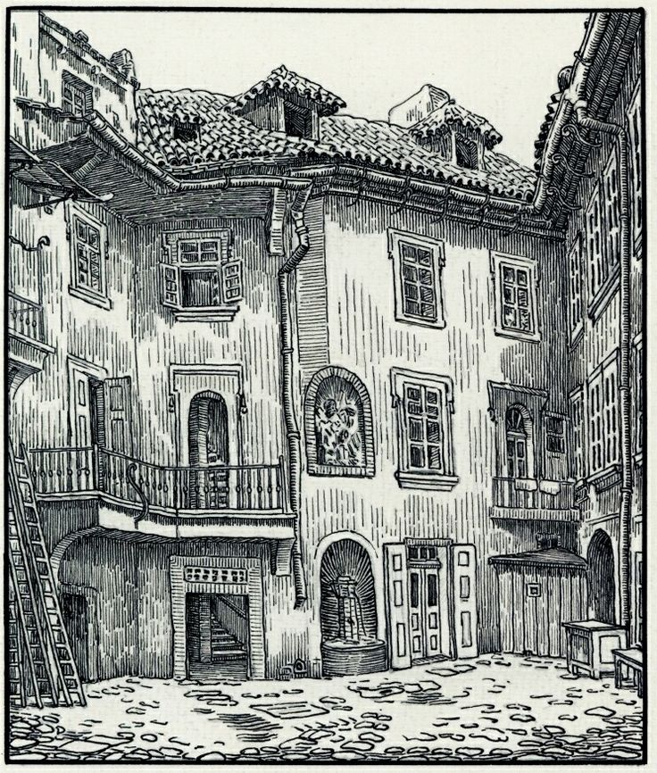 Dvorek domu č. 147 v Jilské ulici