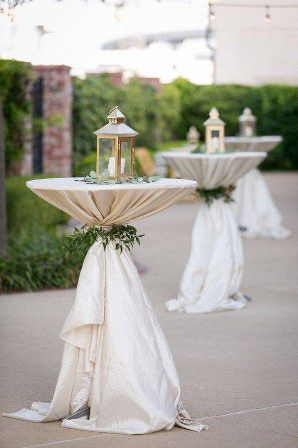 20 Perfect Wedding Cocktail Table Decoration Ideas for Your Big Day