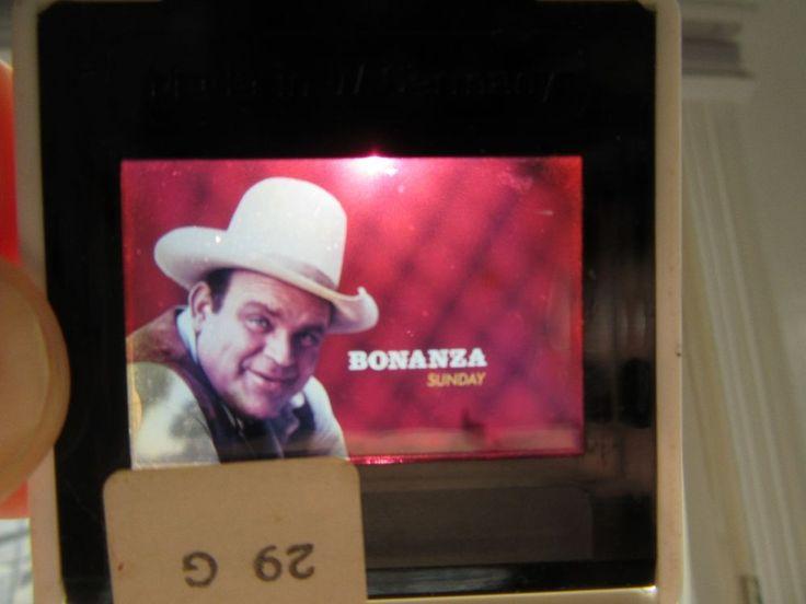 BONANZA TV NBC SERIES BUMPER SLIDE PROMO VINTAGE SLIDE - HOSS