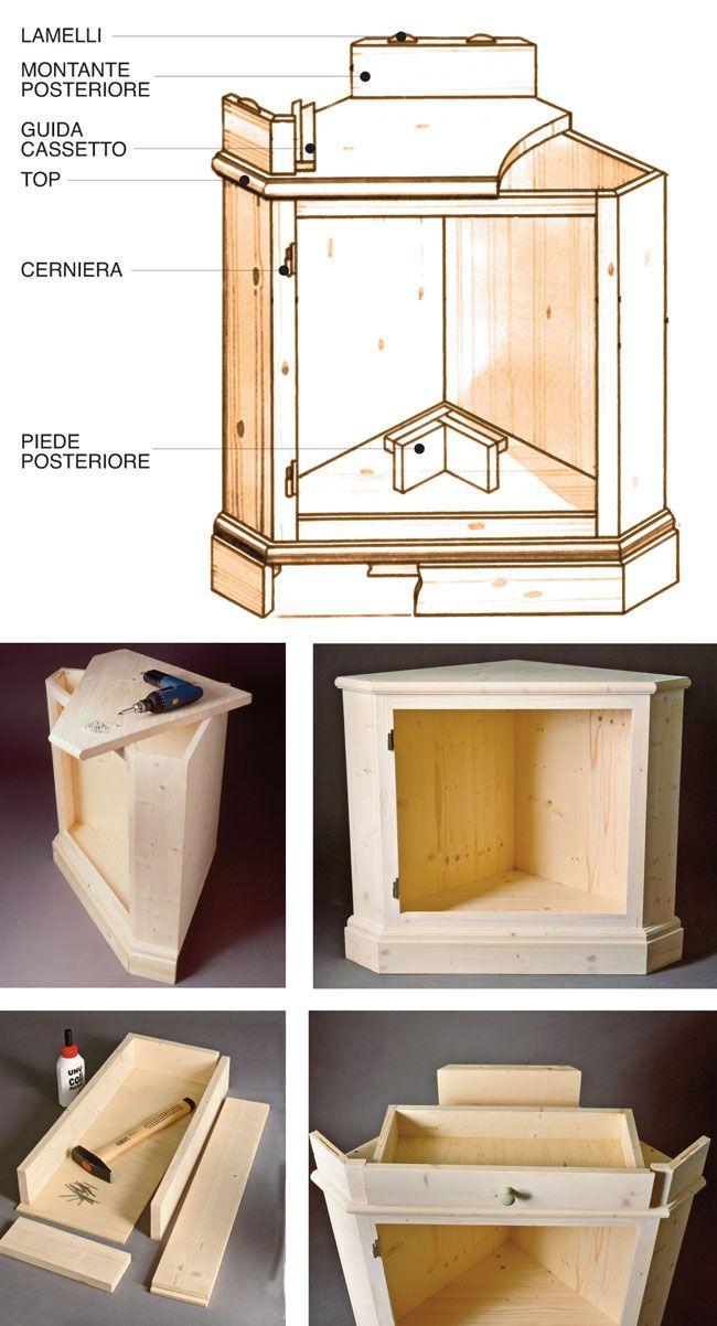 Oltre 25 fantastiche idee su mobili angolari su pinterest - Costruire un mobile in legno ...