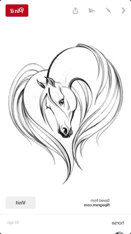 Love Horses In 2020 Horse Tattoo Design Horse Drawings