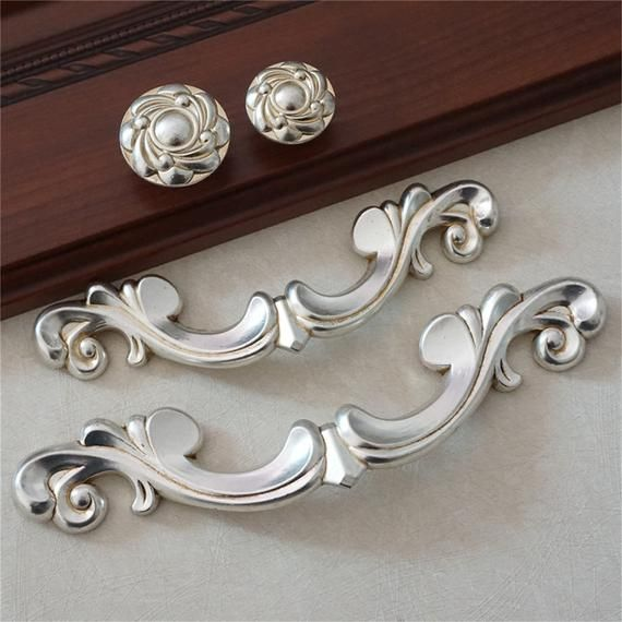 Pin On Baroque S, Antique Silver Kitchen Cabinet Hardware