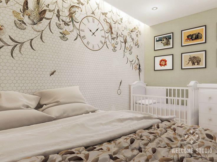 Дизайн: Welcome Studio (Нижний Новгород) Хозяева приобрели однокомнатную квартиру с необычной планировкой. Так как они ждут ребенка, в квартире было предусмотрено место…