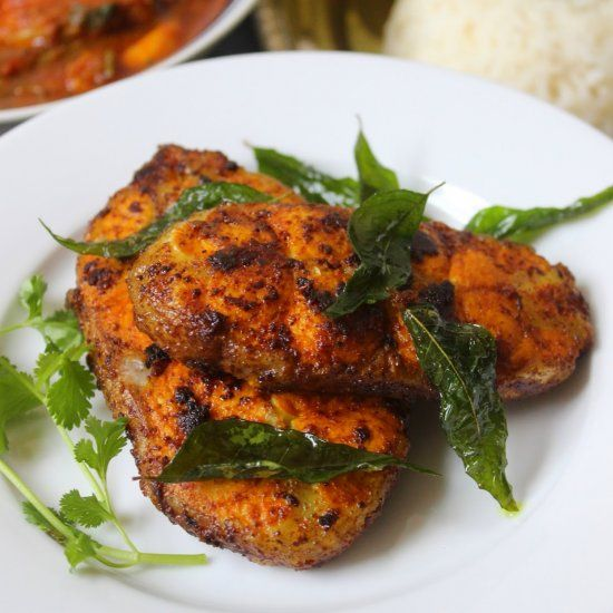 South Indian Style Spicy Fish Fry.
