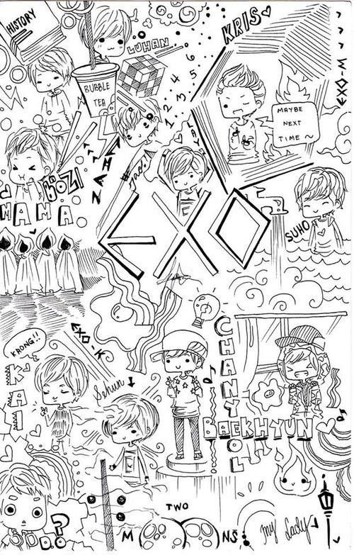 Wallpapers Exo Coloring Books Life