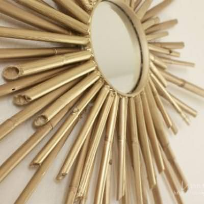 Bamboo Sunburst Mirror {step by step}Who can resist this stunning bamboo sunburst mirror? This tutorial takes us step by step to the glorius finish of gilded bamboo! Add instant excitement to your decor with this mirror.View This Tutorial