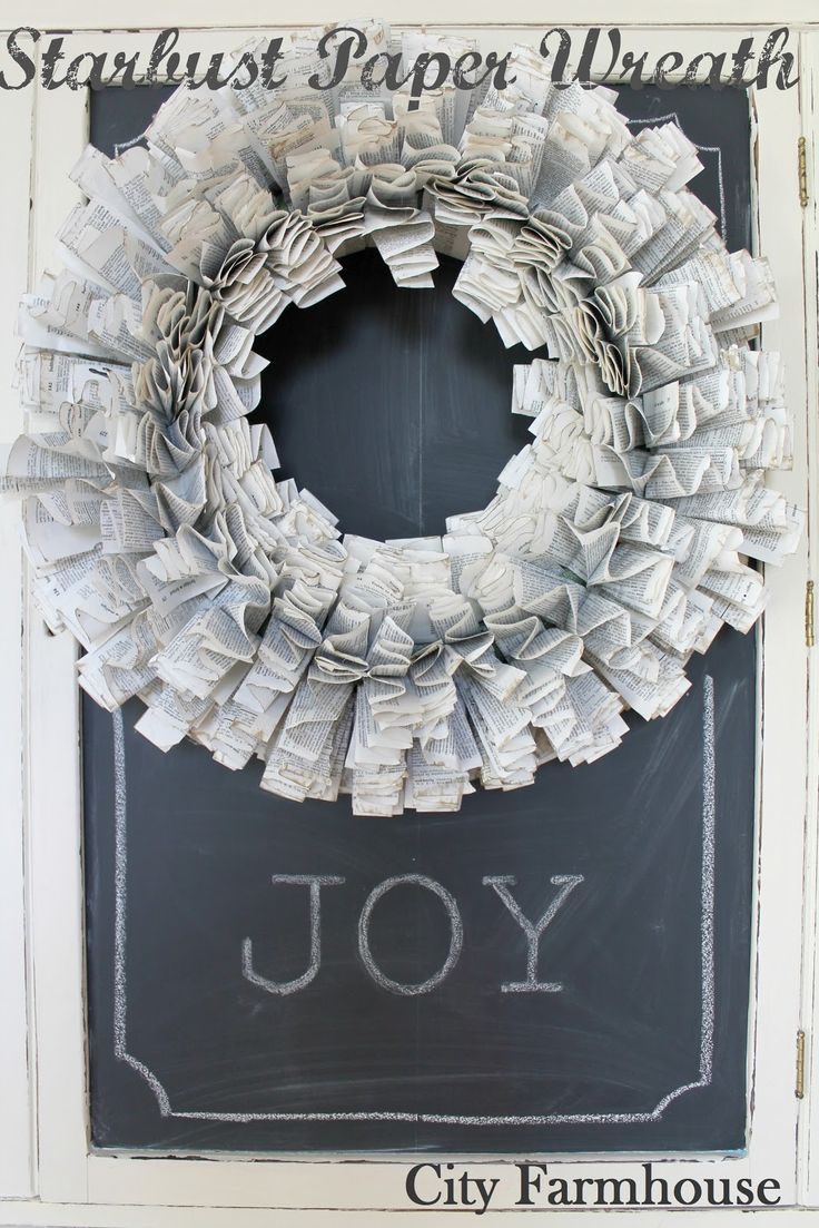 DIY Starburst Paper Wreath Tutorial - City Farmhouse (one of the best paper  wreath tutorials I've read)