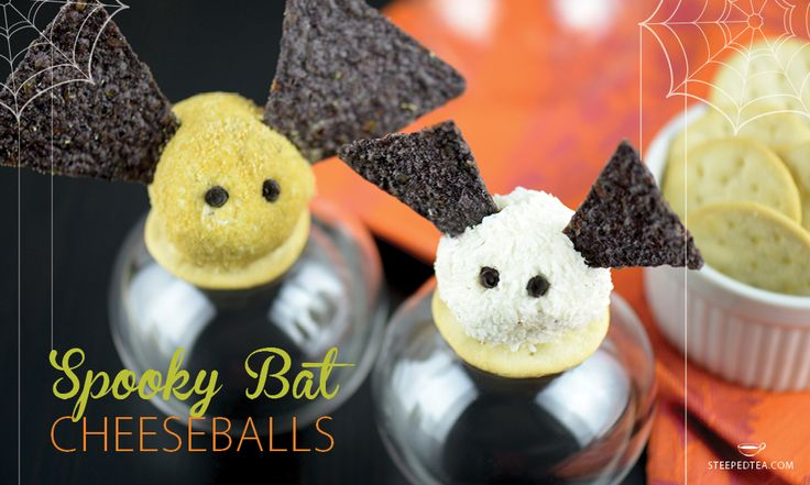 These mini bat cheeseballs are perfect for Halloween parties and require minimal preparation!