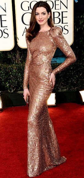 Anne Hathaway in Armani Prive. (My all-time favorite award-show dress.)