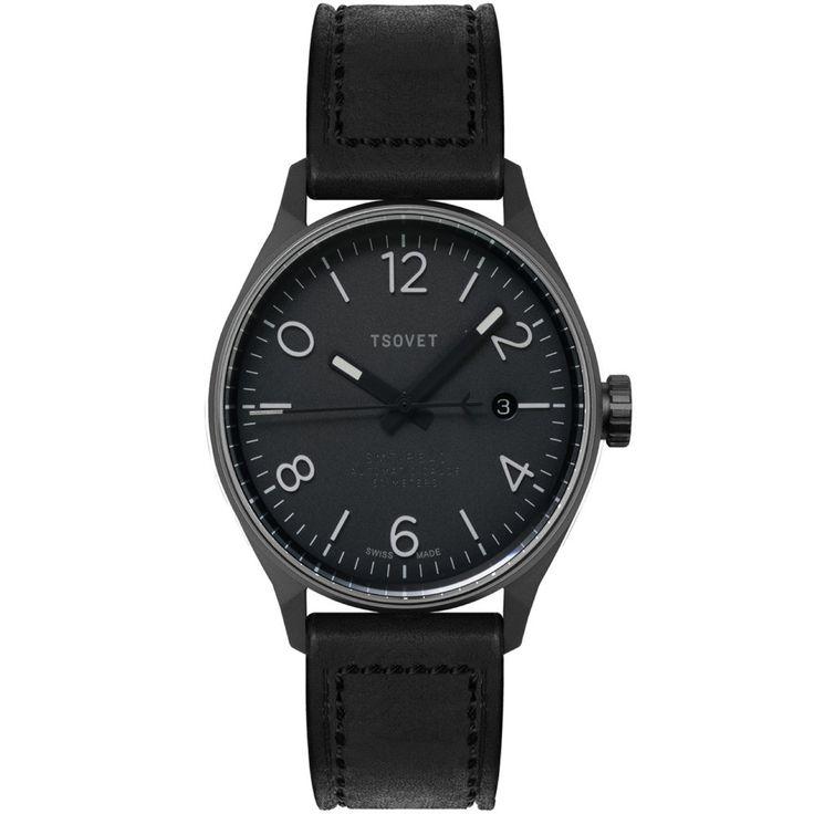 Tsovet SMT-RS40 Gunmetal & Black Automatic Watch | Black RS221010-45A