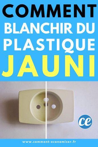 Facile et Rapide : Remark Blanchir du Plastique Jauni Avec du Bicarbonate.