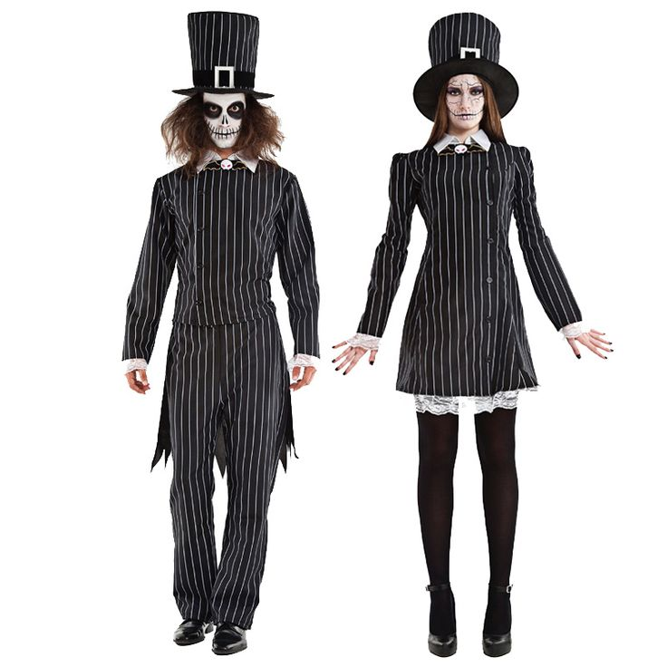 Pareja Mister & Miss Grimbone #tienda #disfraces #halloween #novedades