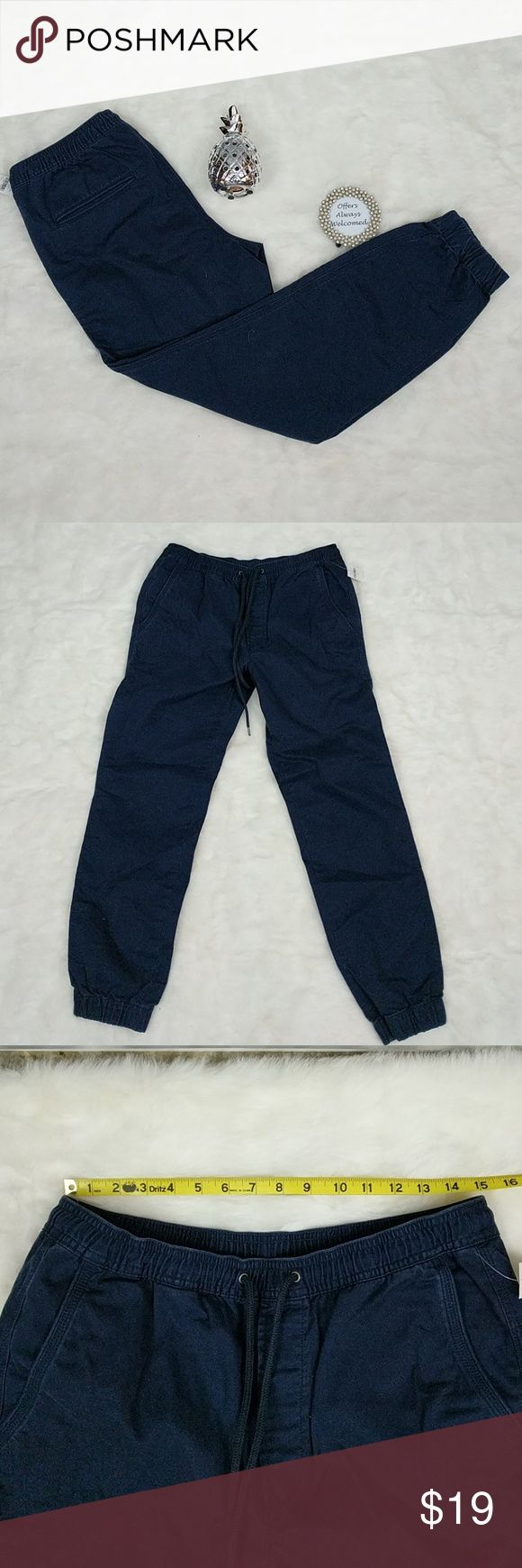 "Gap Navy Khaki Jogger Pants New with tags navy blue jogger pants from Gap. Pants have approximately 29"" inseam. GAP Pants Track Pants & Joggers"