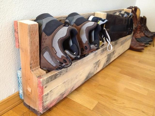 Shoebox Made Out Of A Pallet Helpful Household Items