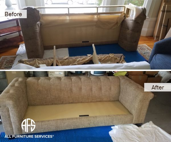 Tufted Sofa Couch Disassembly Assembly Fit Into Door Elevator Stairway Attic Basement Disassembling Furniture Furniture Tufted Sofa Couch