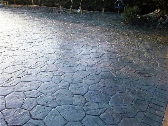 Pavimento de piedra aquitania hecho con ankare zaline en - Pavimento de corcho ...