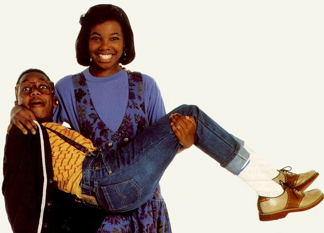 Steve Urkel & Laura-It's hard to decide who has worse luck, Urkle because he's Urkle, or Laura because Urkle won't seem to leave her alone.