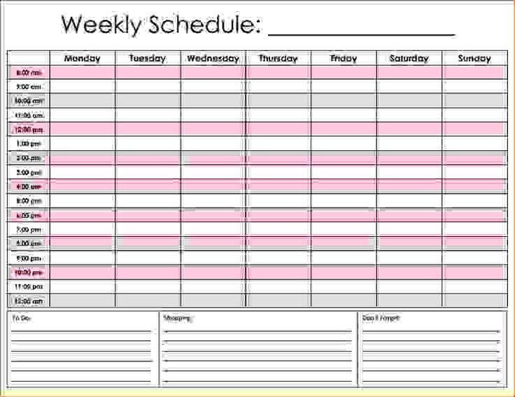 25+ parasta ideaa Pinterestissä Schedule templates - shift schedule template