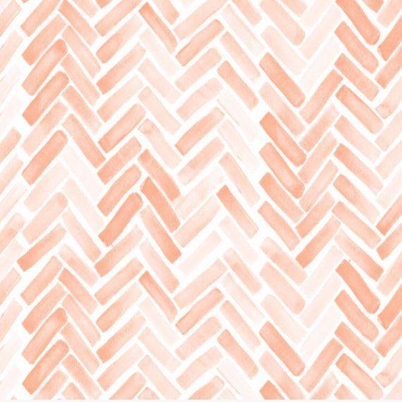 Watercolor Herringbone In Pinkherringbone Crib Sheet Fitted Etsy Aesthetic Pastel Wallpaper Watercolor Pattern Girly Print