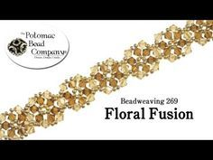 Beadweaving 269 Floral Fusion - YouTube free tutorial from The Potomac Bead Company. Potomac bead company has hundreds of tutorials on YouTube and tens of thousands of products (gemstones, crystals, glass, seed beads, pendants, silver, findings, tools & more) in retail bead stores and on TheBeadCo.com!