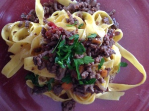 Italian ragù bolognese with pasta Zalla  www.zalla.it