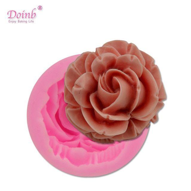 Rose Flowers DIY Silikon Kuchen Fondant Plätzchen Schokoladen Verzieren Formen
