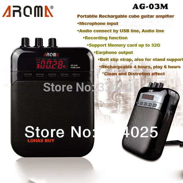 ==> [Free Shipping] Buy Best Aroma Mini Electric Guitar Amp Amplifier 5V 3W portable guitarra amplificador Online with LOWEST Price | 1228126486