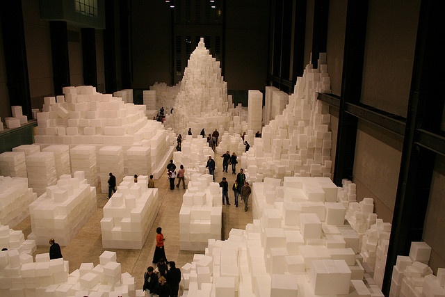 """Sugar Cubes"" at the Tate Modern, London, 2005."