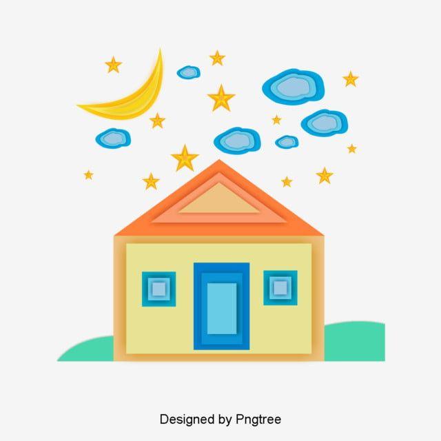الكرتون الجميلة حلم لون بيت التصميم الإبداعي المادي جميل كرتون حالم Png صورة للتحميل مجانا Creative Design Design Creative