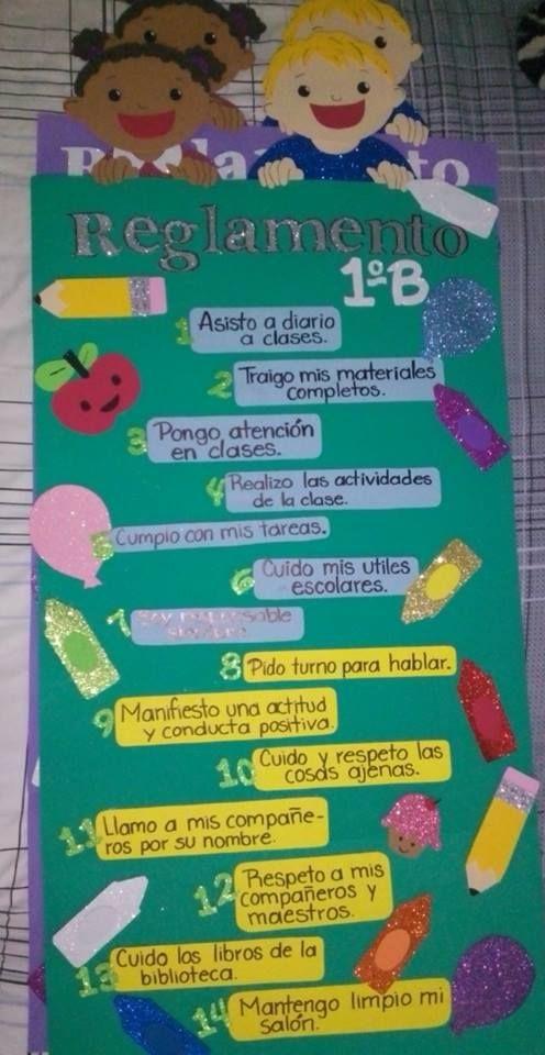 Reglamento de salón de clases #foamy #foami #creatives #creativity #crafts #manualidades