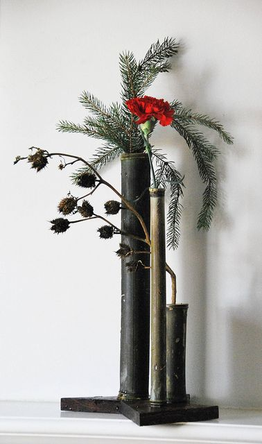 Ikebana Dec. 12, 2010 by clw_and_dog, via Flickr