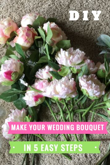 How To Make Your Own DIY Fake Flower Wedding Bouquet In 5 Simple Steps SO