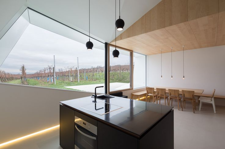 Architecture : Extraordinary small kitchen and dining room design ideas with views facing out picture - a part of Likeable Former Wine Cellar Converted Into a More Appealing Winery