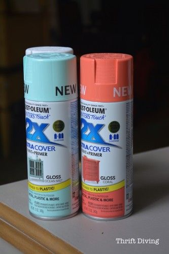 Coral and ocean mist Rustoleum spray paint