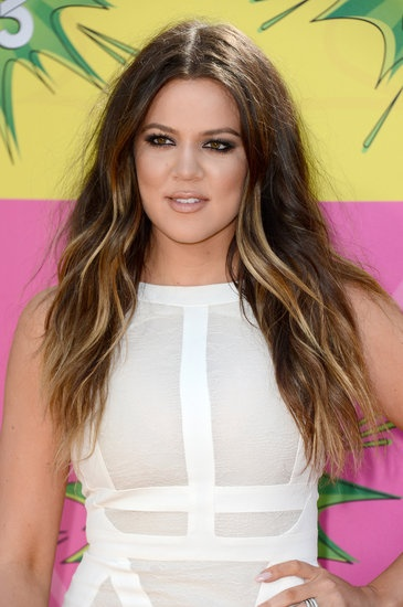 Gorgeous hair on Khloe Kardashian — #beachwaves and #ombre color. #KCAs