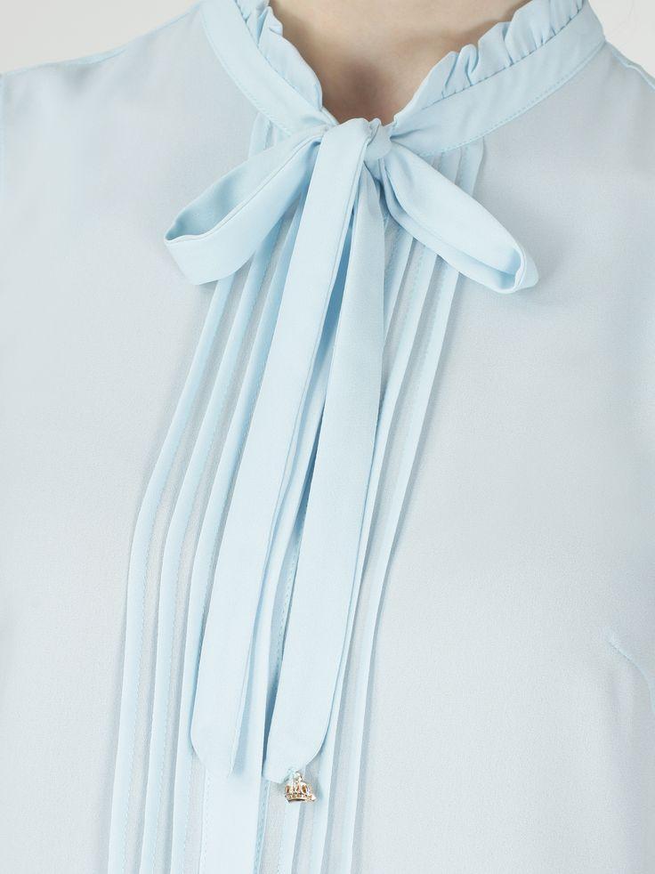 Рубашка с бантом и рюшами на воротнике - Рубашки и блузки | LIMÉ