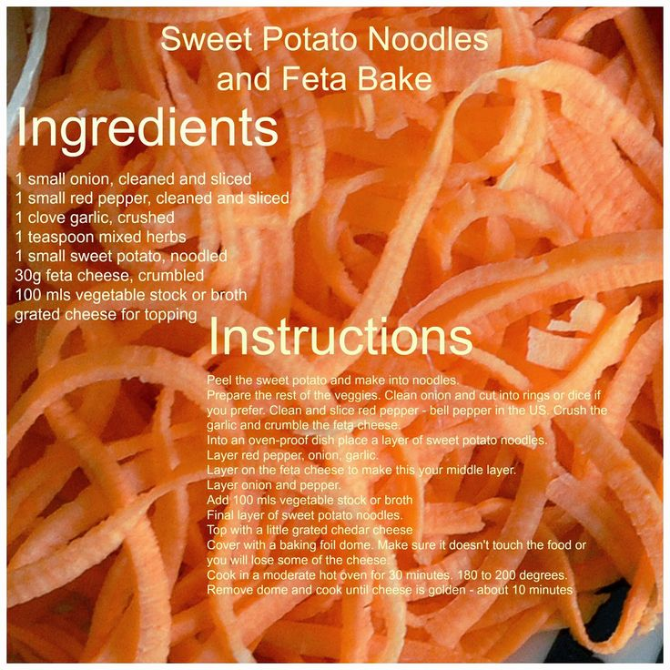 Cheap Food: Healthy Food for Vegetarians: Easy Vegetarian Recipe for One: Sweet Potato Noodl...
