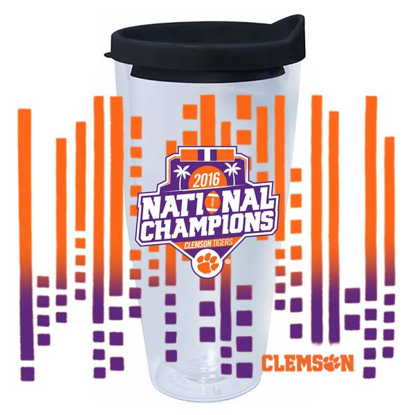Clemson Tigers College Football Playoff 2016 National Champions 22oz. Tritan Tumbler - $19.99