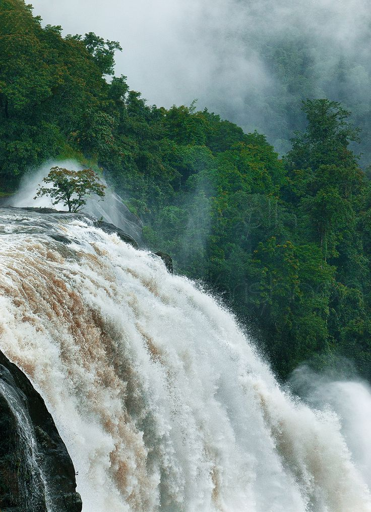 Athirapally Water Falls, Kerala, India.