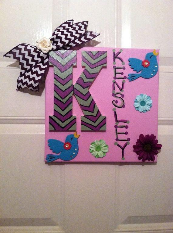 Monogram Wall Decor Ideas : Best nursery monogram ideas on baby girl